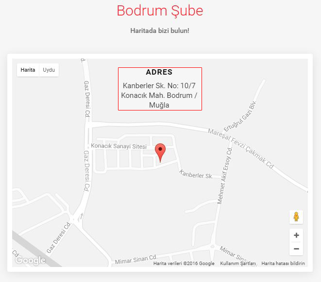 Muğla - Bodrum Şube